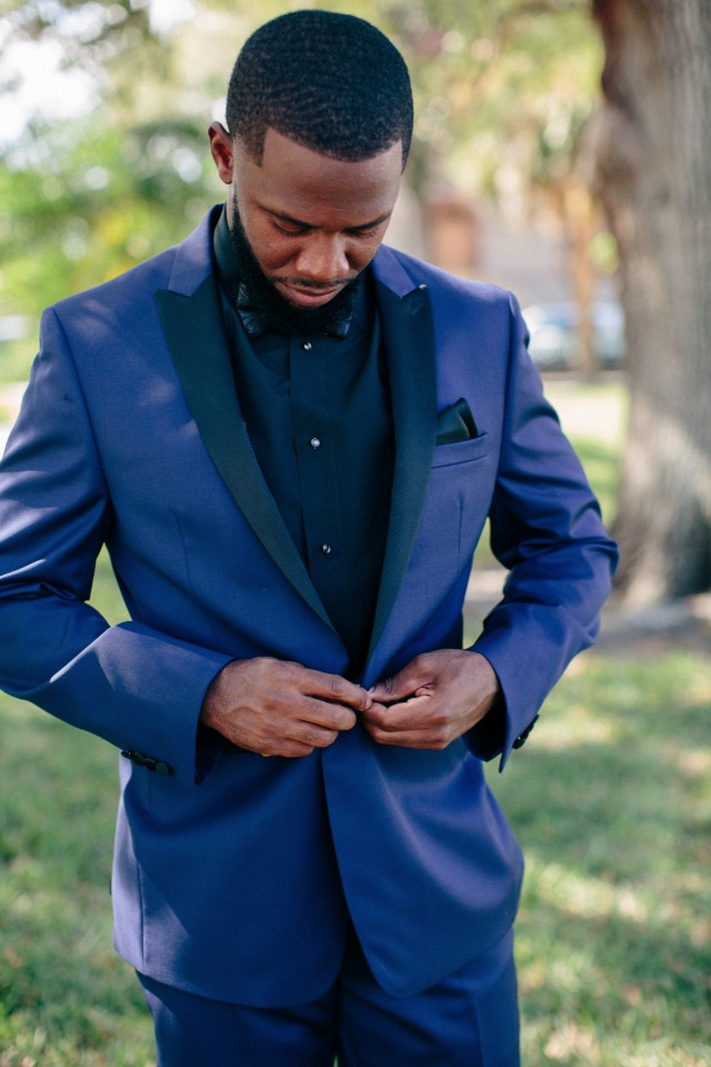 Stylish look for the groom