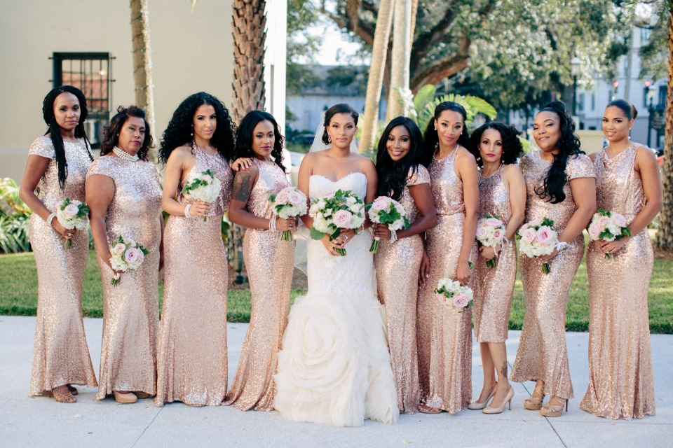Fierce and fabulous bridesmaids