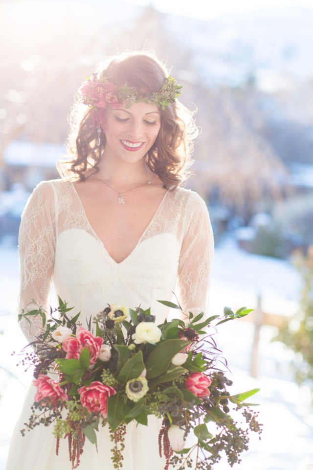 Elegant winter bride