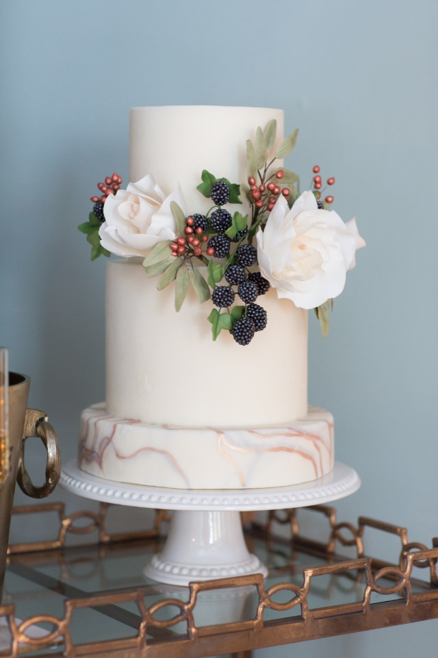 elegant cake with berries