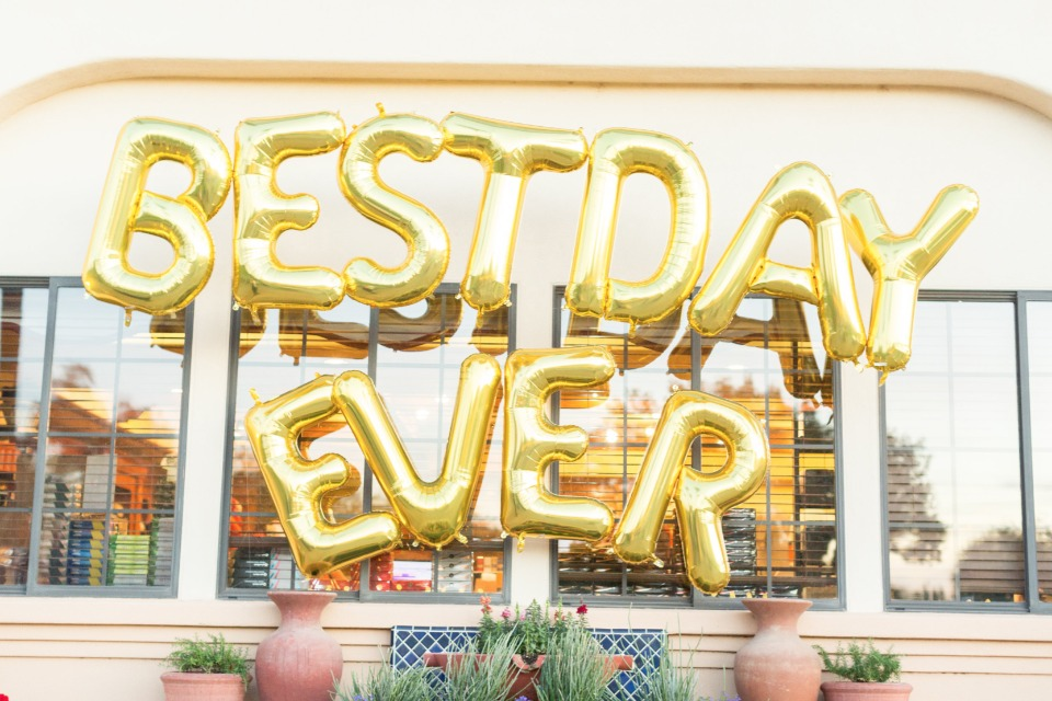 best day ever wedding balloons