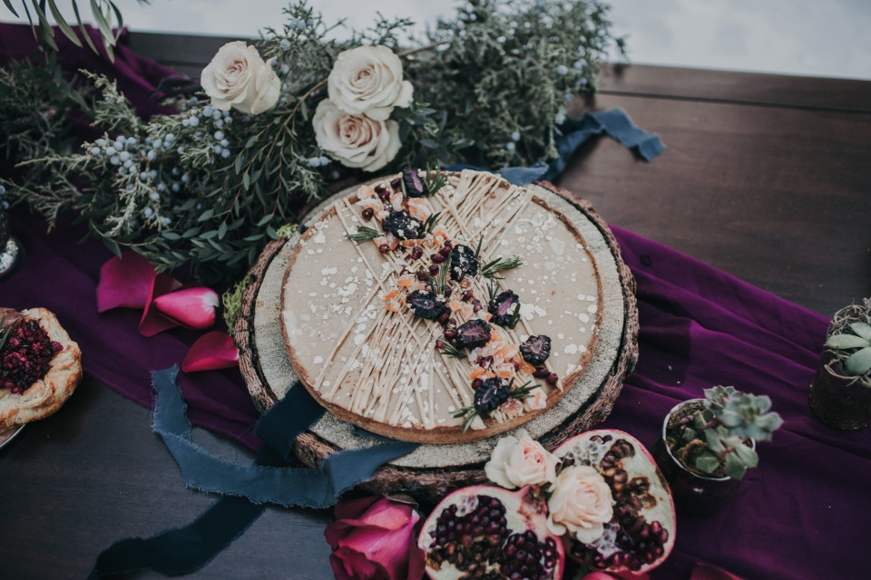 berry tart wedding dessert