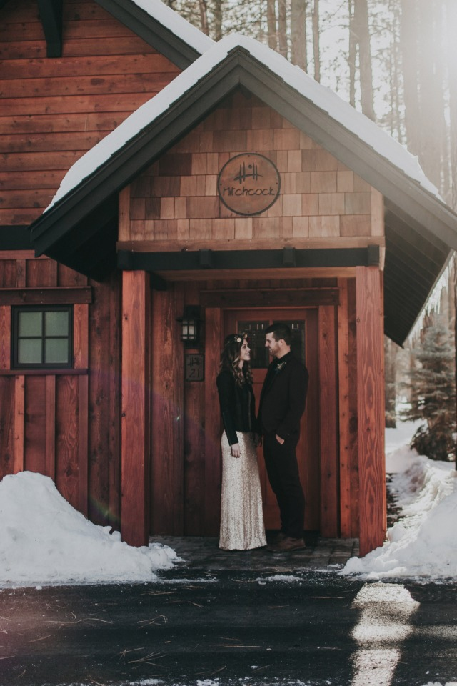 cabin in the snow wedding
