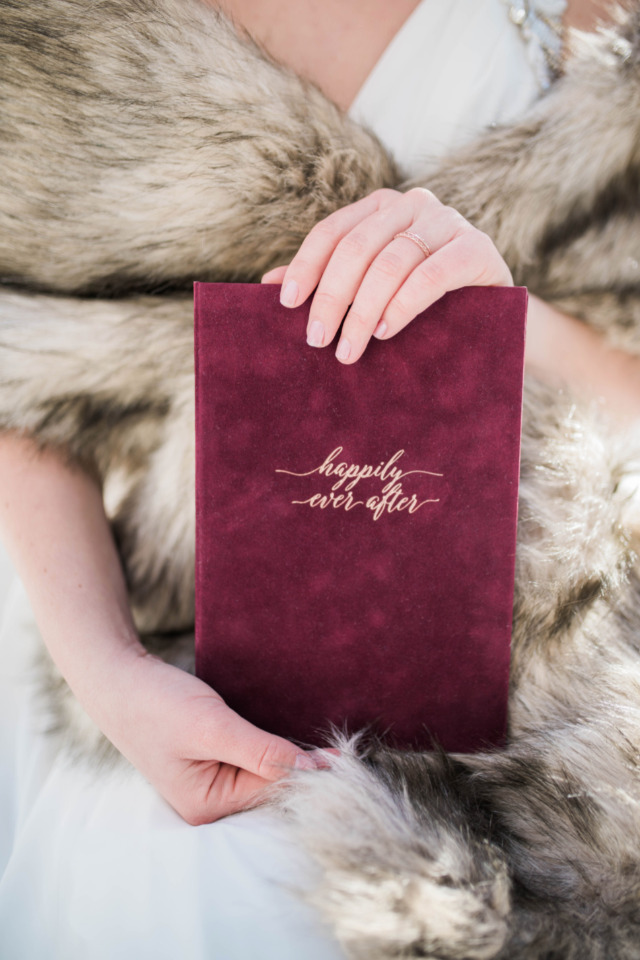 happily ever after velvet wedding memory book