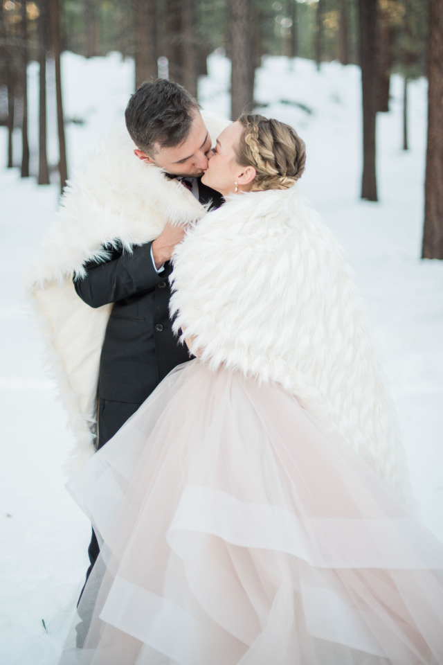warm fuzzy white wedding blanket
