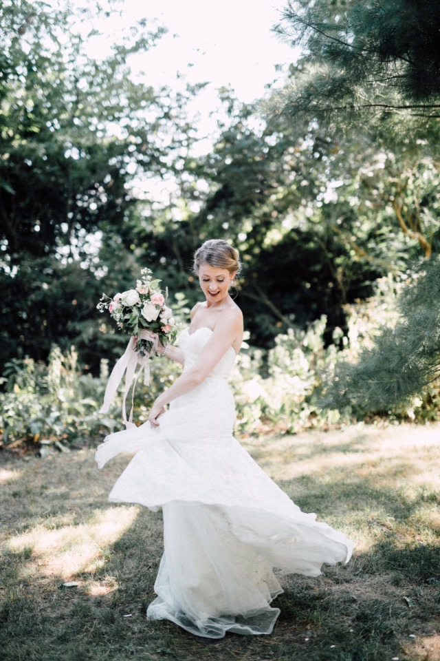 Twirling bride
