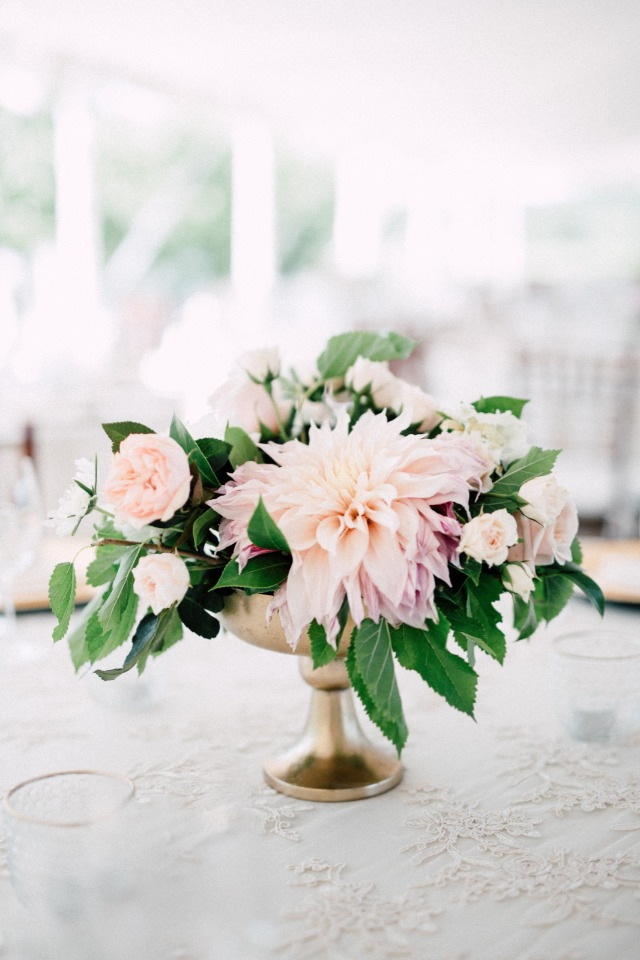 Gorgeous dahlia centerpiece