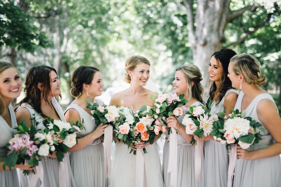 Elegant bridesmaids