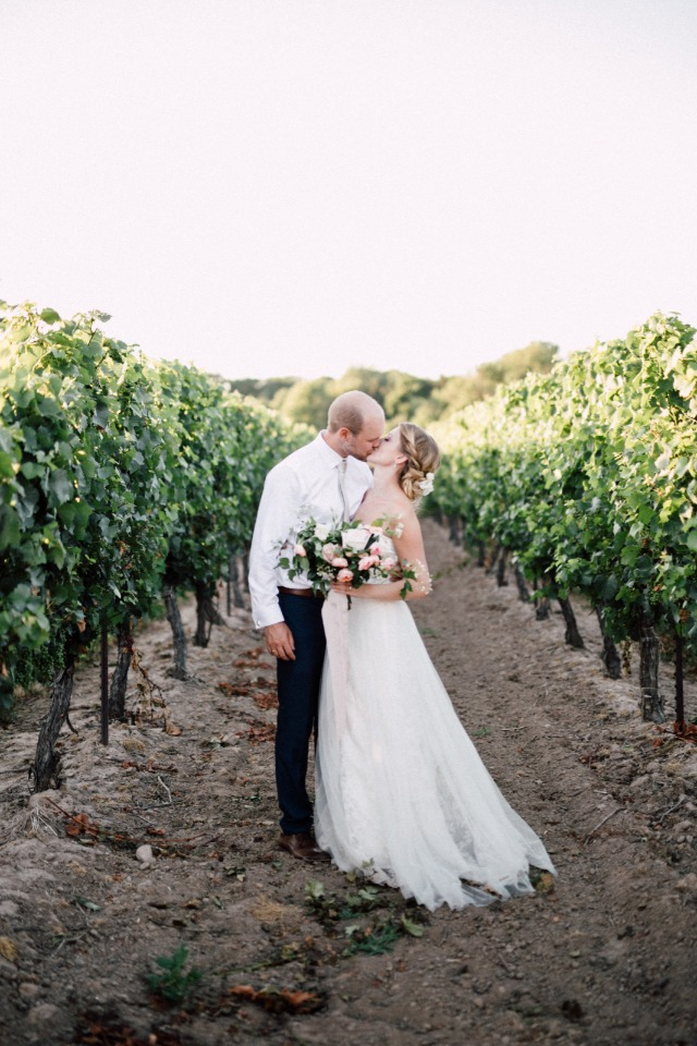 A private moment in the vineyard