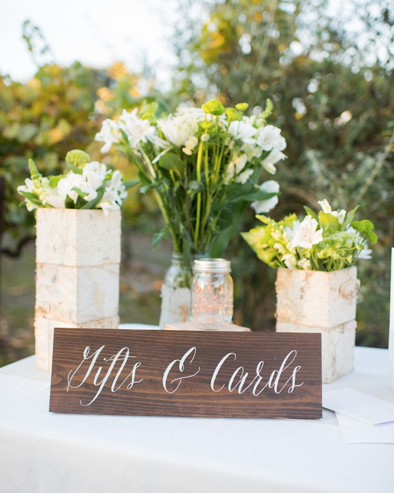 handmade gift and card sign