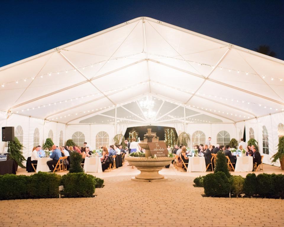 tent wedding venue