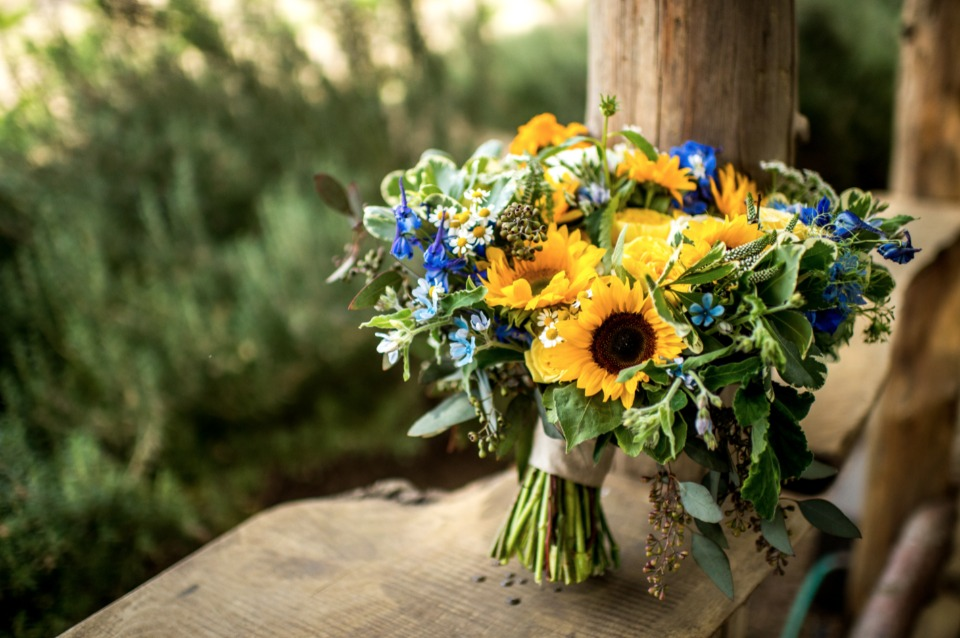 summer wedding bouquet
