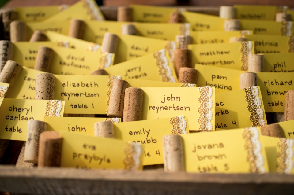 cork wedding escort cards