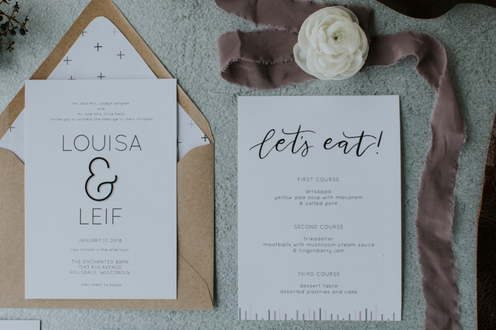 modern wedding stationery ideas