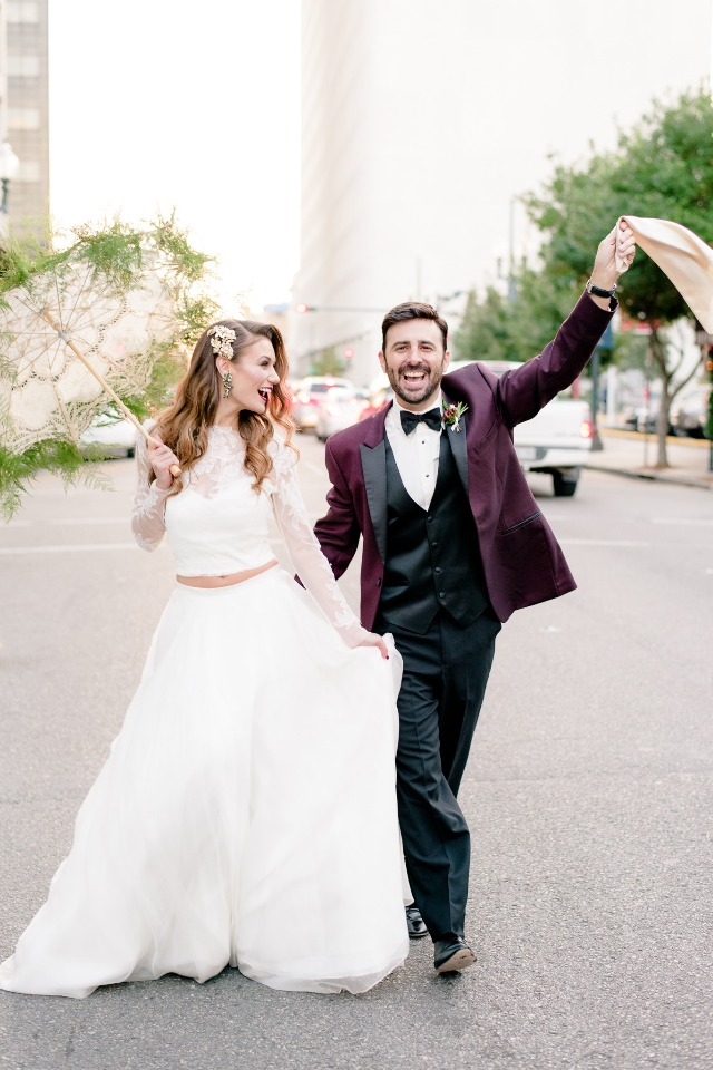 New Orleans wedding couple