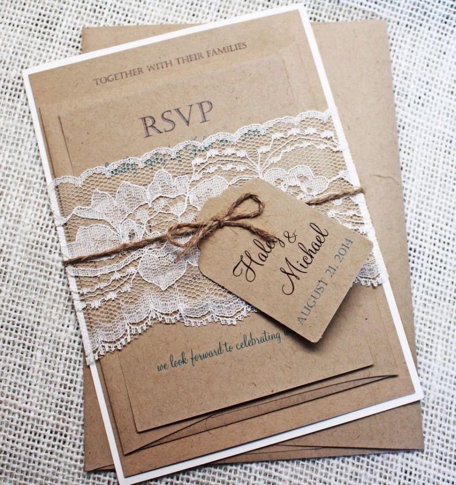 Rustic Kraft and Lace wedding suite
