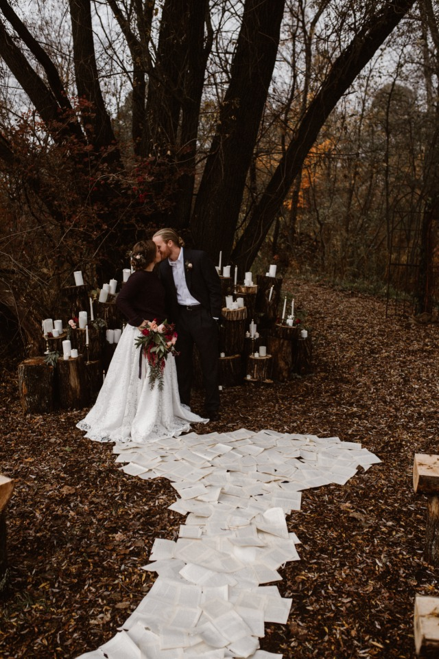 Rustic ceremony idea