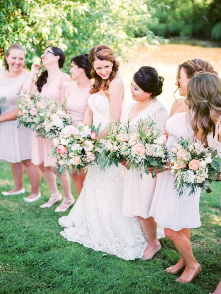 Soft colors and pretty bouquets