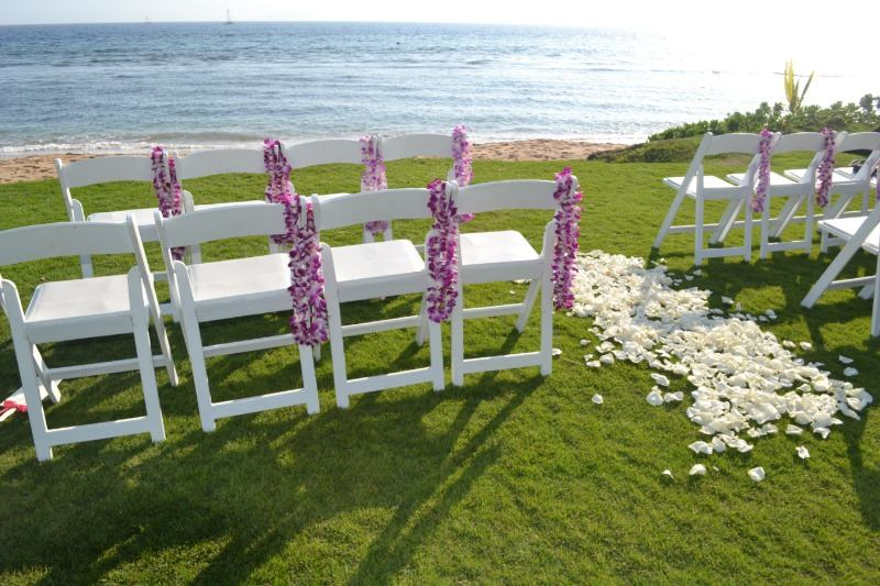 Thinking about a Maui Destination Wedding? Beachfront ceremony at Hyatt Regency Maui