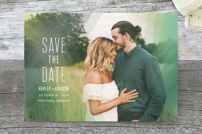 boho chic save the date from Minted