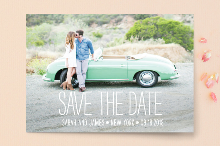 hip and fashiony save the date from Minted