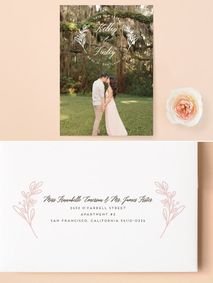 Wildflowers Save the Date From Minted