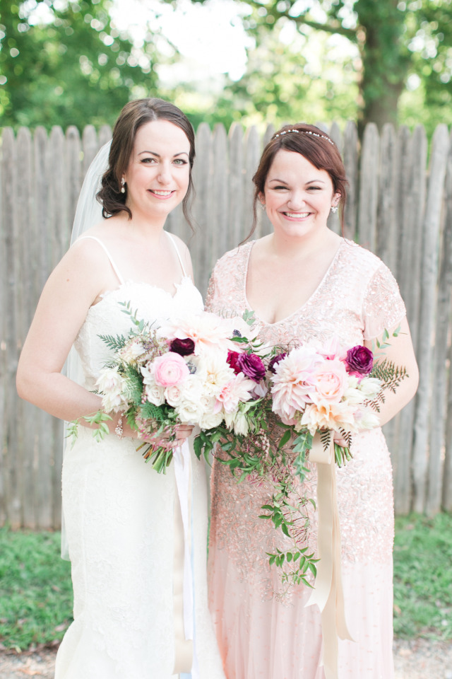 pretty pink lace bridesmaids dresses