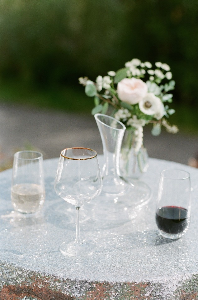 wine wedding ceremony