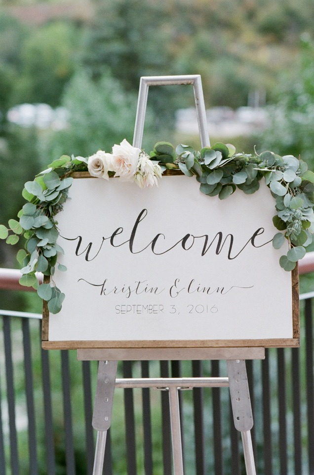 calligraphy wedding welcome sign