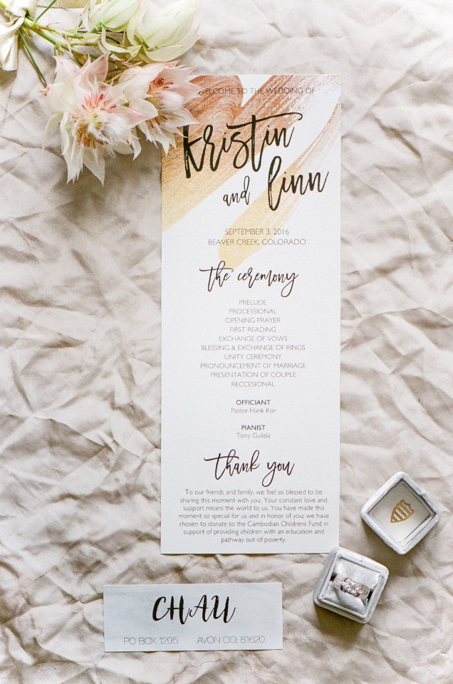 modern style wedding program
