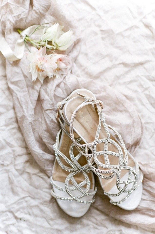 strappy wedding flats