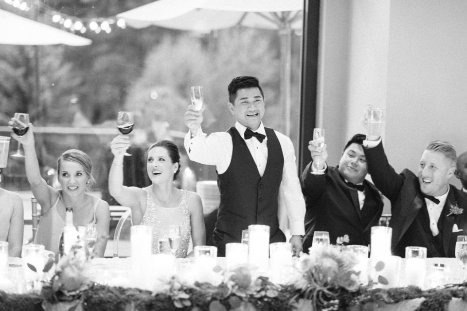 cheers to the newlyweds
