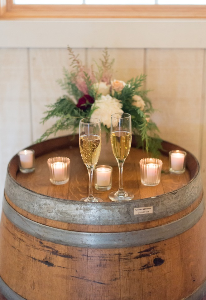 Champagne toast for the newlyweds