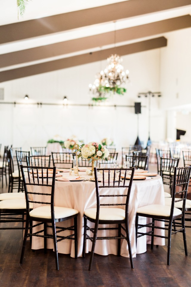 Glamorous reception with blush