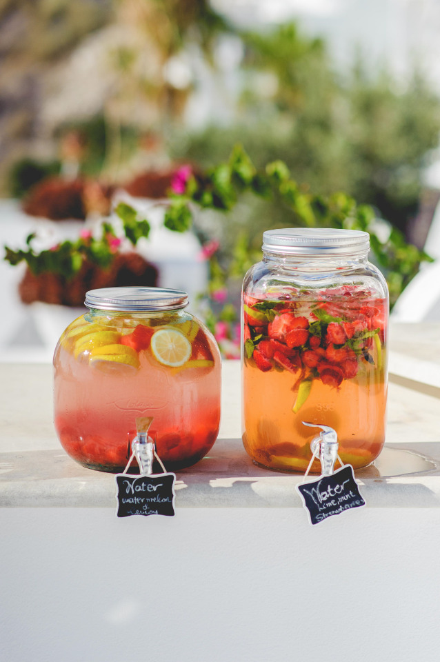 lemon watermelon water for your wedding