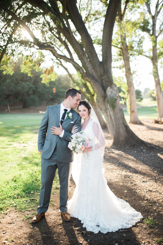 Romantic wedding in California
