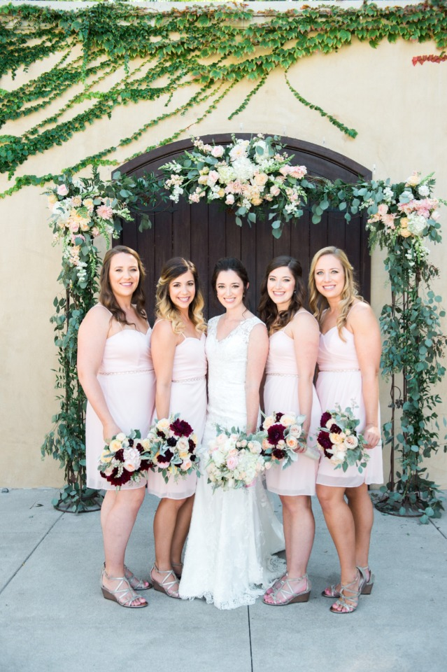 Pretty bridal party
