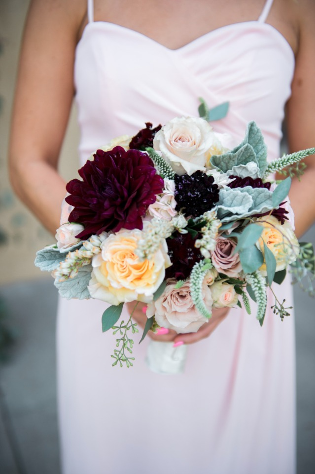 Muted hues and rich texture make the perfect bouquet