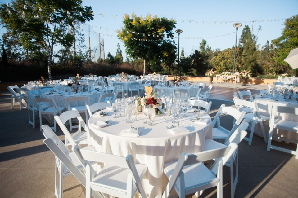All white outdoor reception