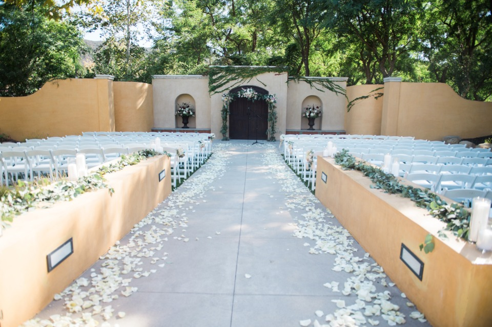 Scattered petals ceremony