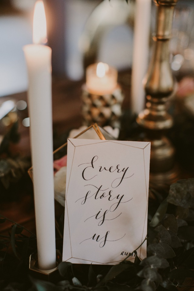 every story is us wedding sign