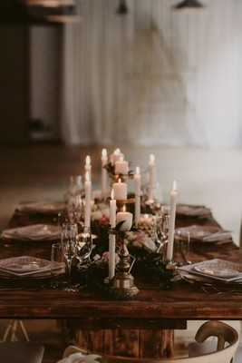 Gallery Modern Industrial Gold And White Wedding With A