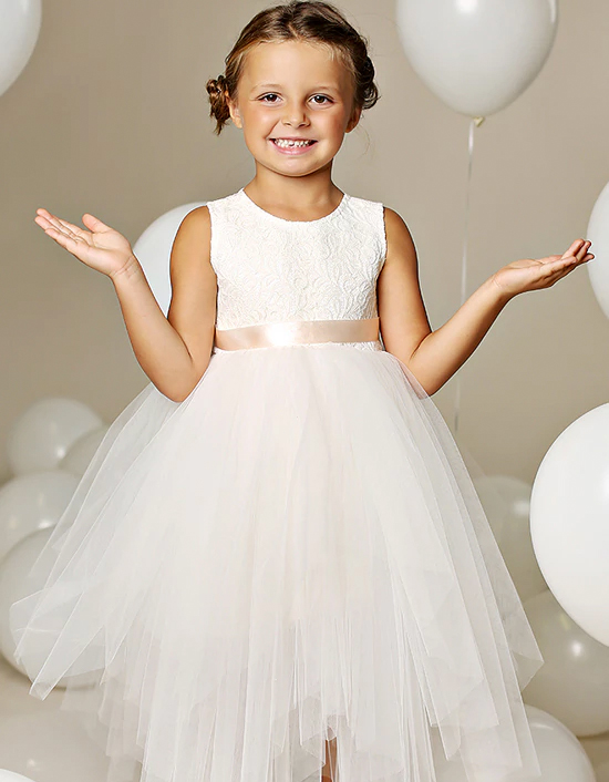 tuelle flower girl dress