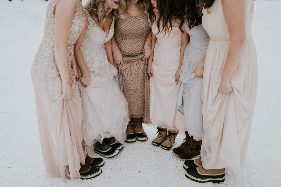 keeping your toes warm on your wedding day