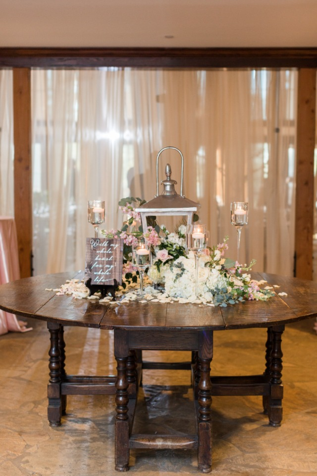 welcome wedding reception table
