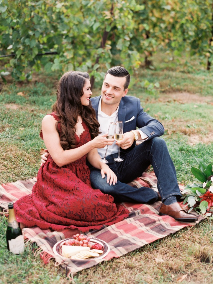 Engagement shoot picnic