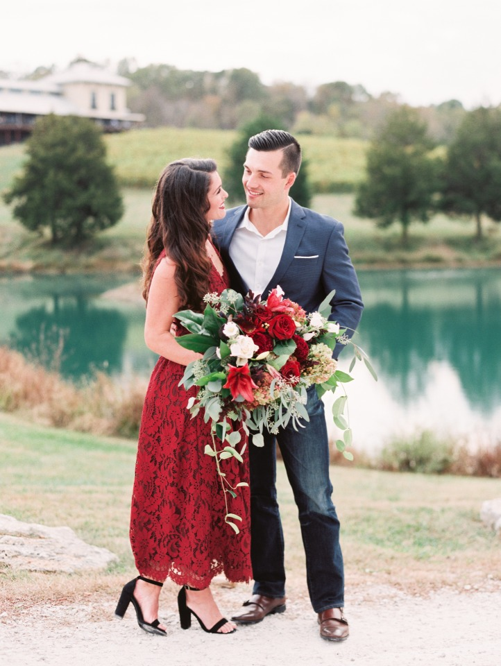 Stunning vineyard engagement shoot