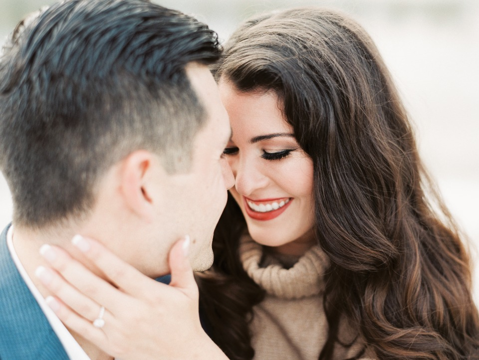 Make up and hair idea for engagement shoot