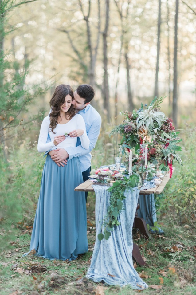Charming woodsy engagement shoot