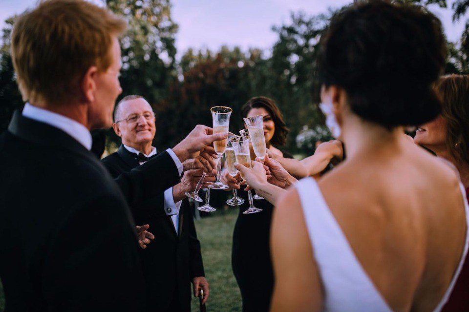 Toast to the newlyweds